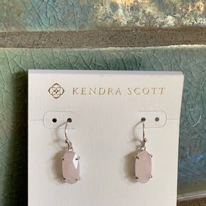 Kendra Scott rose quartz earrrings